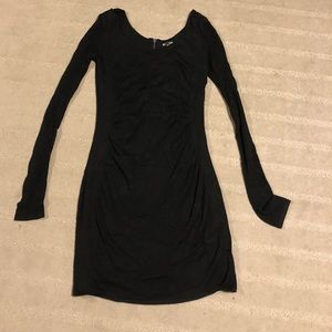 Express tight fitted black dress